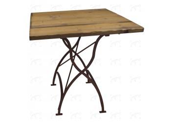 Tavolo Bistrot - 80x80 cm ferro/legno
