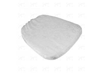 Cuscino Chiavarina Damascato Bianco